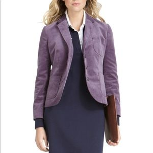 Brooks Brothers purple corduroy blazer jacket sz 4